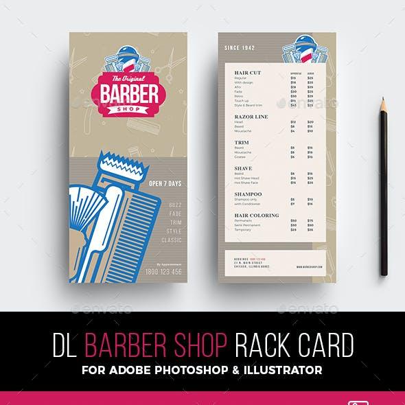 Barber Shop Rack Card Template