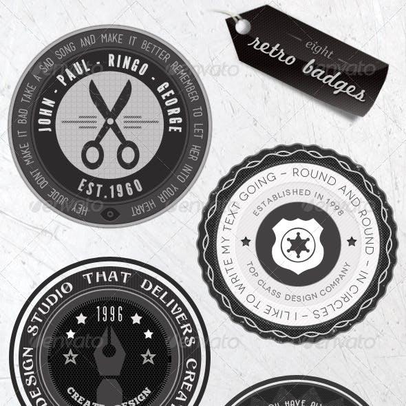 Retro Badges - Faded Vintage Labels - V.3