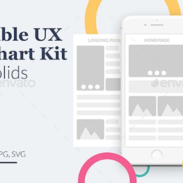 Usercible UX Flowchart Kit - Light Solids