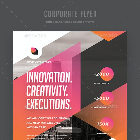 Creative Colorful Corporate Flyer