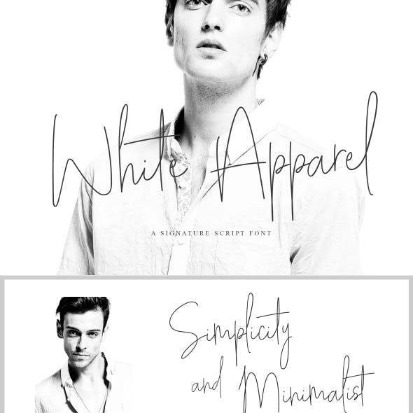 White Apparel Signature Font
