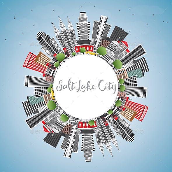 Salt Lake City Skyline with Gray Buildings