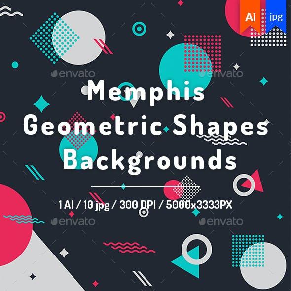 Memphis Geometric Shapes Backgrounds