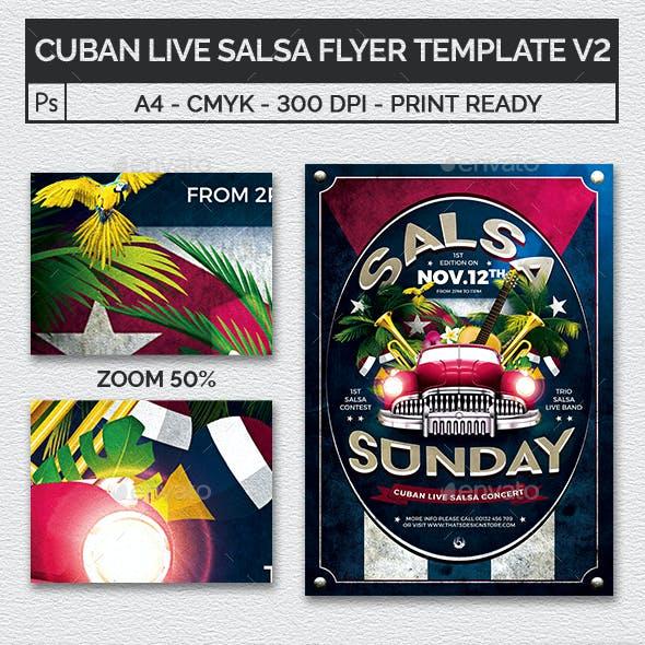 Cuban Live Salsa Flyer Template V2