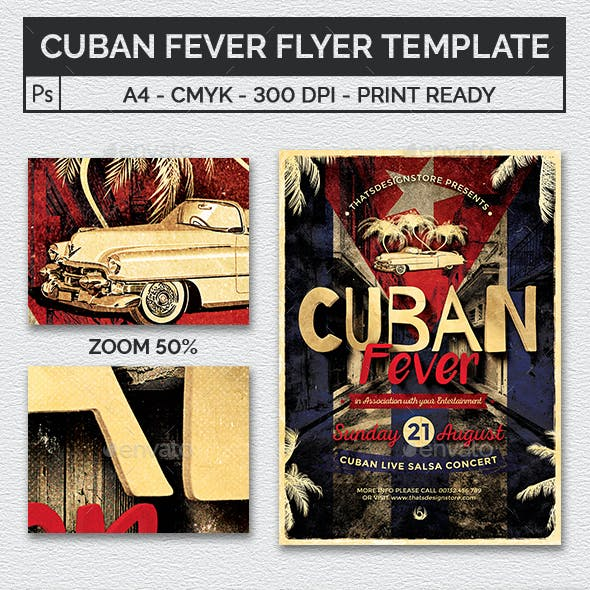 Cuban Fever Flyer Template