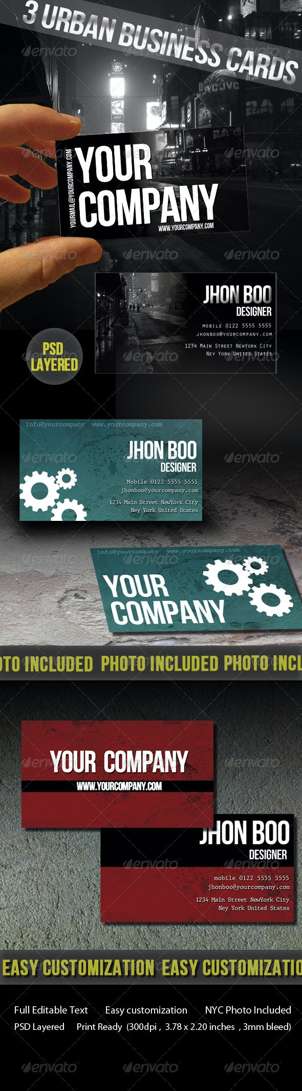 Urban Business Cards - Creative Business Cards