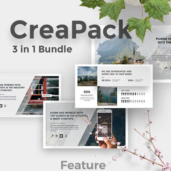 3 in 1 CreaPack Keynote Bundle Template