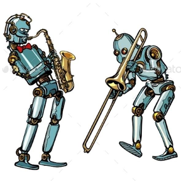 Brass Band Musicians Robots, Saxophone