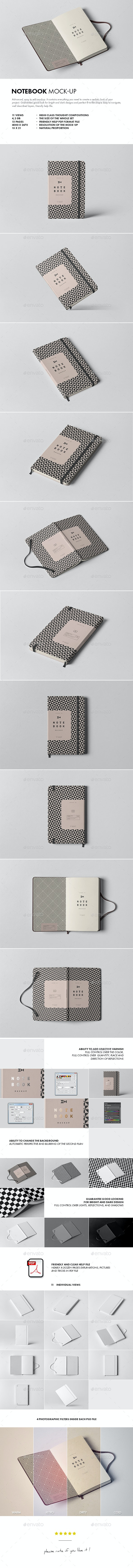Notebook Mock-up - Books Print