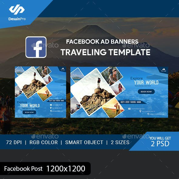 Traveling Facebook Ad Banners - AR