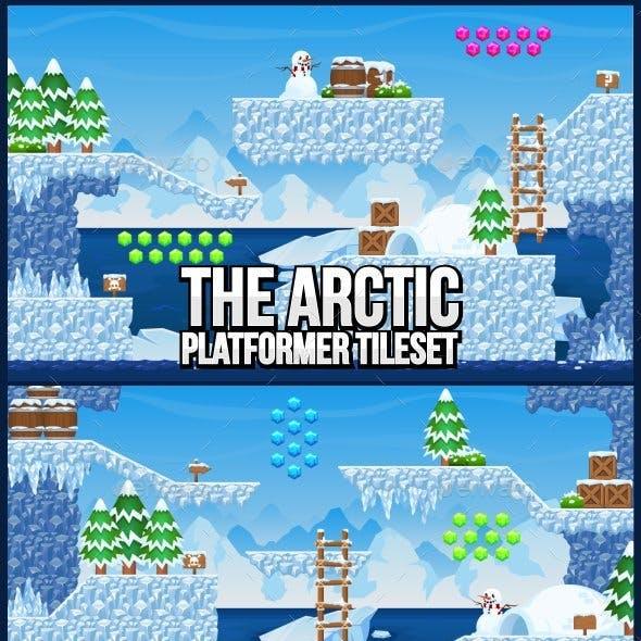 The Arctic - Platformer Tileset