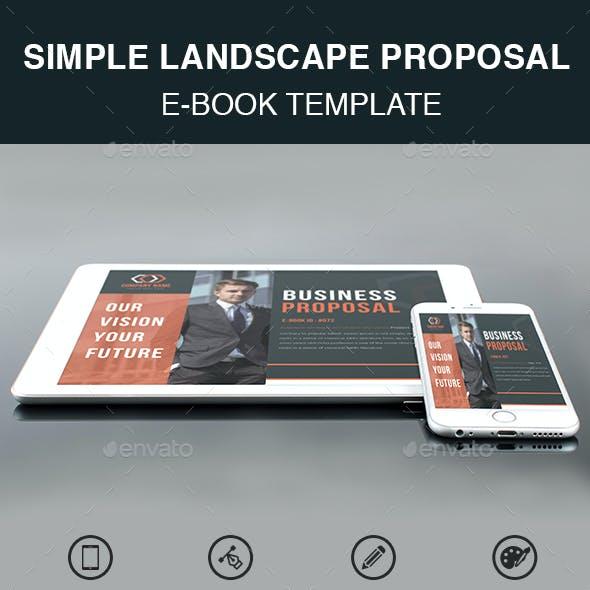 Simple Landscape Proposal E-Book