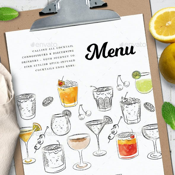 Cocktail Menu Templates 3