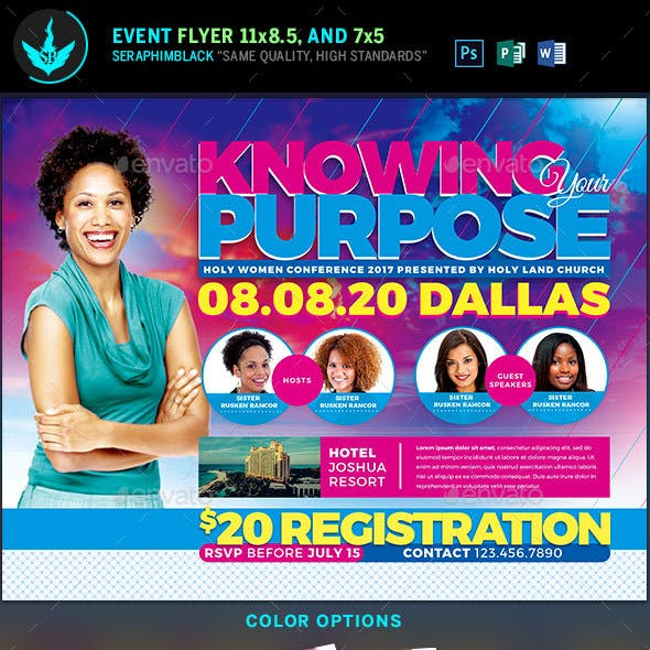 Knowing Your Purpose Church Conference Flyer Template