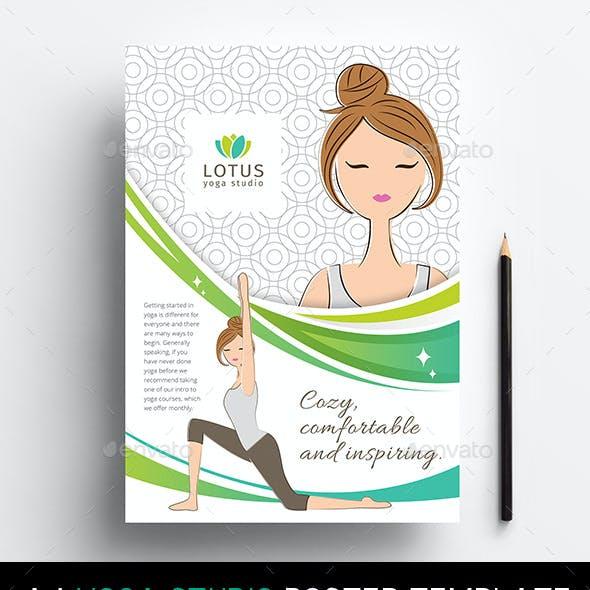 A4 Yoga Studio Poster Templates