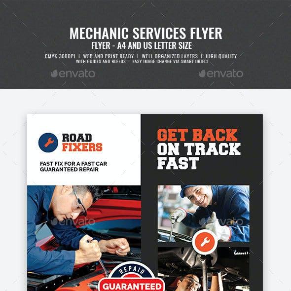Car Mechanic Service Flyer