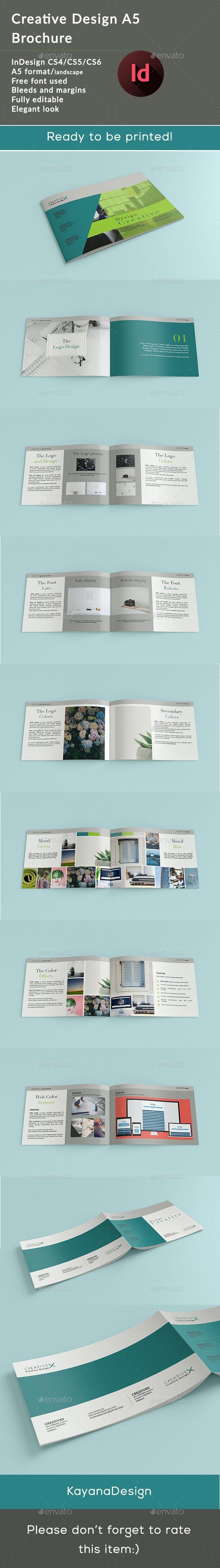 A5 Creative Design x Brochure - Brochures Print Templates