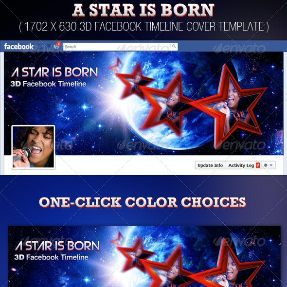 A Star is Born 3D Facebook Timeline Template