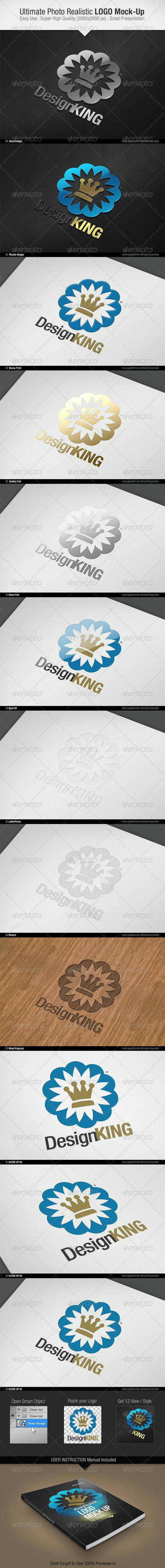Ultimate Photo Realistic LOGO Mock-Up - Logo Product Mock-Ups