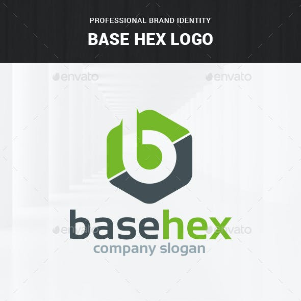 Base Hex - Letter B Logo