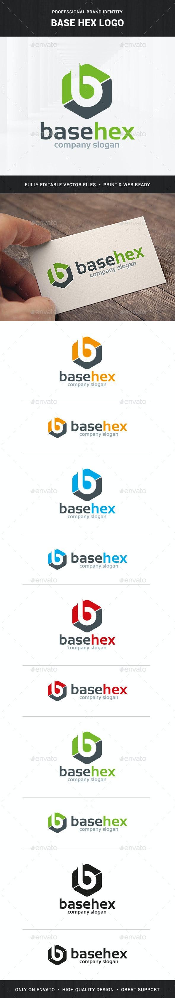 Base Hex - Letter B Logo - Letters Logo Templates