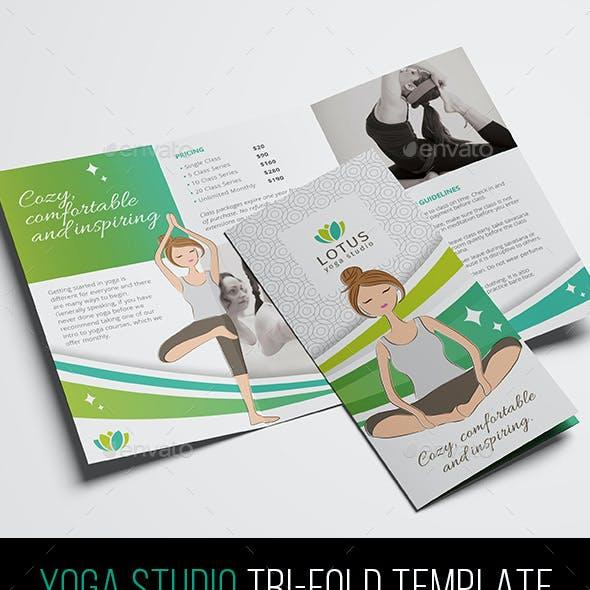 Yoga Studio Tri-Fold Brochure Template