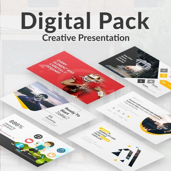 3 in 1 Digital Pack Powerpoint Bundle Template