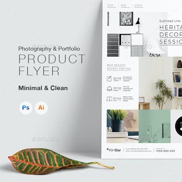 Product & Photography Showcase Flyer