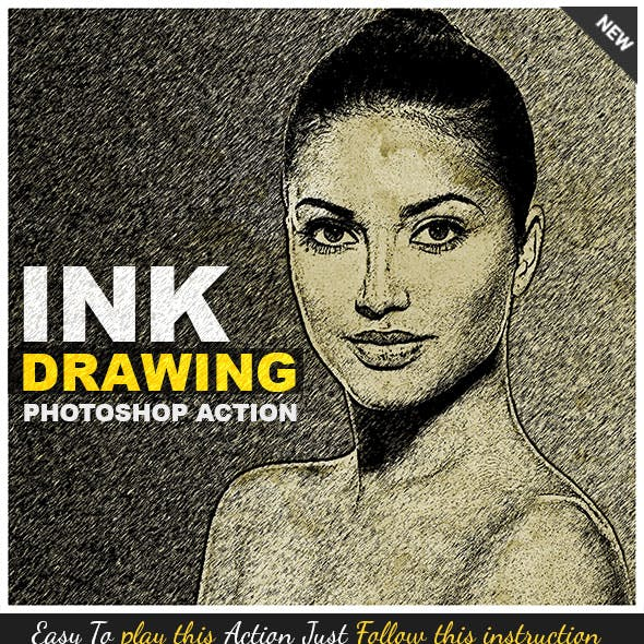Ink Drawing Photoshop Action