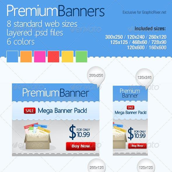 Premium Web Banners (Mega Pack)