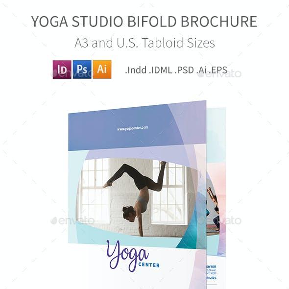 Yoga Studio Bifold / Halffold Brochure 3