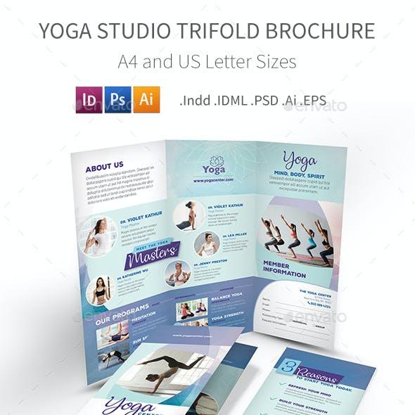 Yoga Studio Trifold Brochure 3