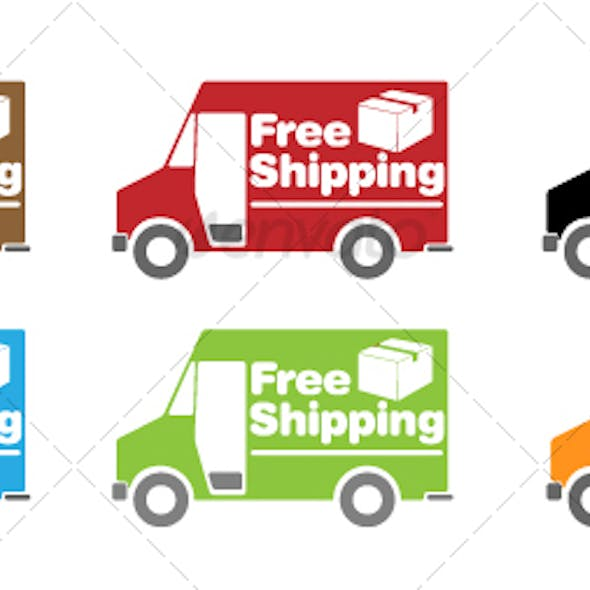 Free Shipping Truck Icon Set