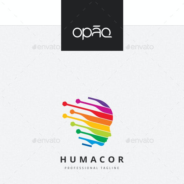 Human Virtual Stripes Logo