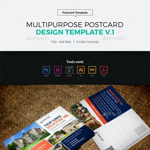 Postcard Design Template v1