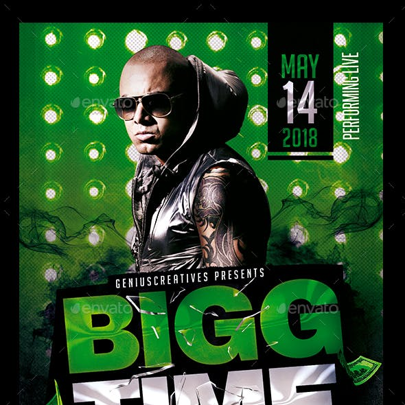 Bigg Time Artist/DJ Flyer Template