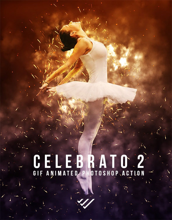 Gif Animated Celebrato 2 Photoshop Action - Photo Effects Actions