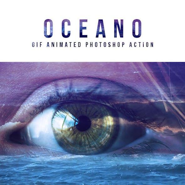 Gif Animated Oceano Photoshop Action