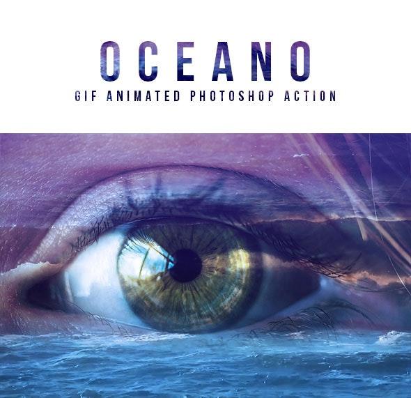 Gif Animated Oceano Photoshop Action - Actions Photoshop