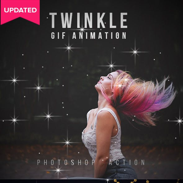Twinkle Gif Animation Photoshop Action