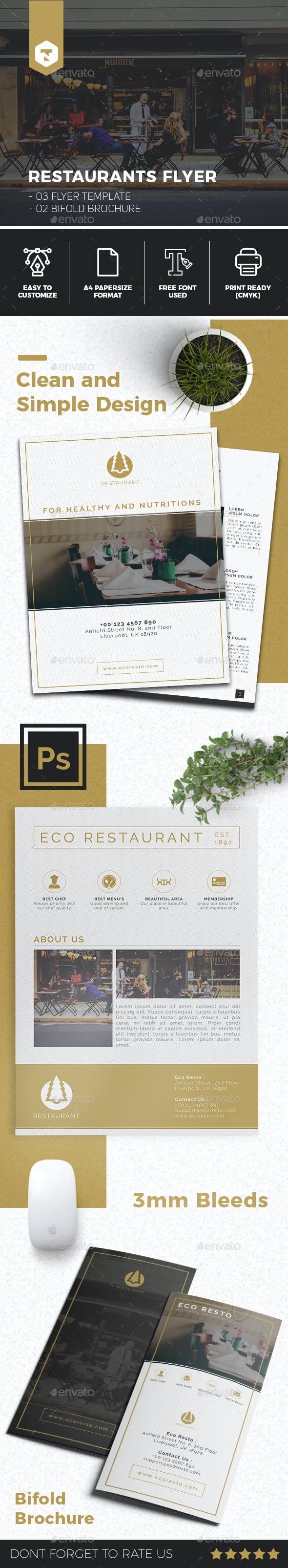 Restaurant Flyer Template - Flyers Print Templates