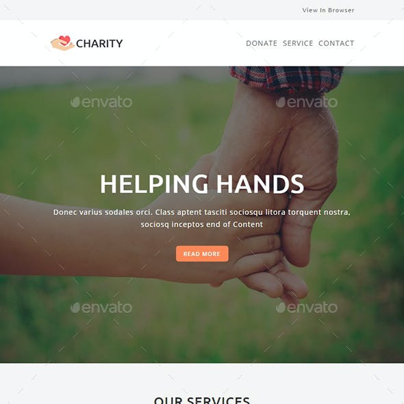 Charity - Email PSD Template