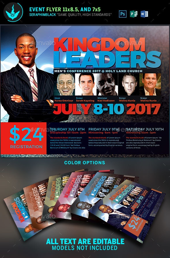 Kingdom Leaders Church Flyer Template - Church Flyers
