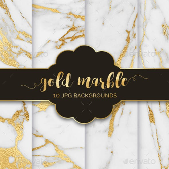 10 Gold Marble Texture Backgrounds