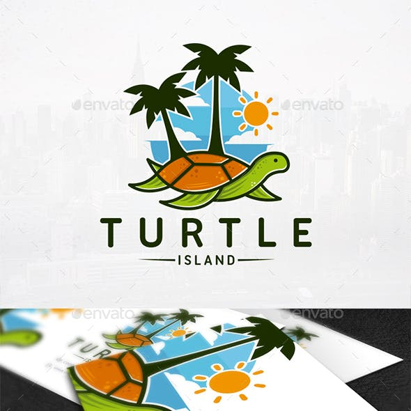 Turtle Resort Logo Template