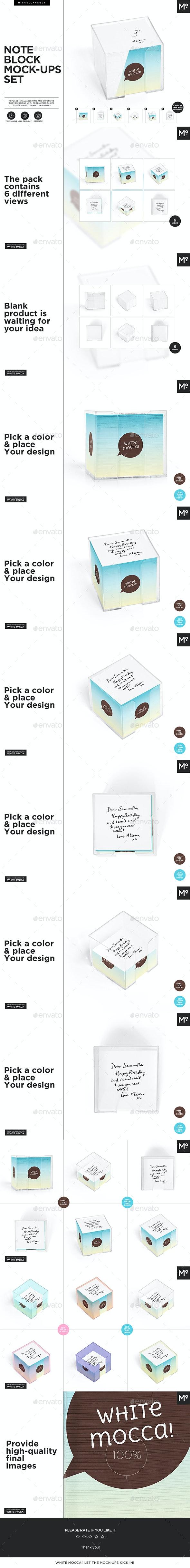 Note Block Mock-ups Set - Miscellaneous Print