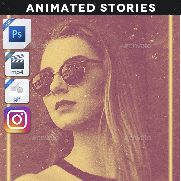 Animated Duotone Stories Template