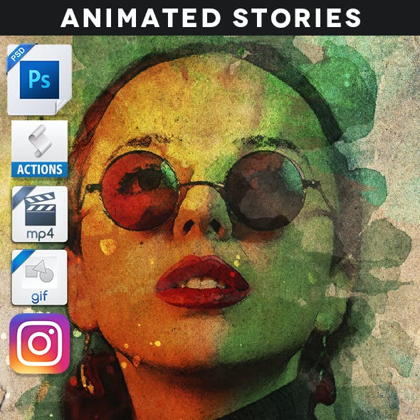 Animated Creative Portrait Reveal Stories Action