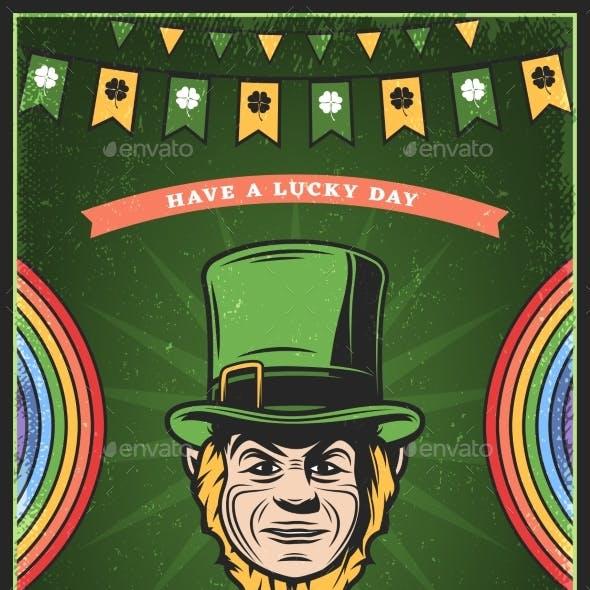Vintage Colored St Patricks Day Poster
