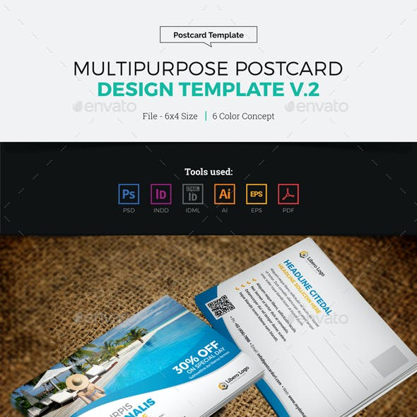Postcard Design Template v2